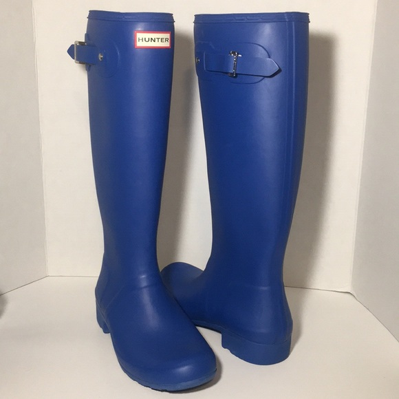 Hunter Shoes - Hunter Original Tall Blue Rain Boots